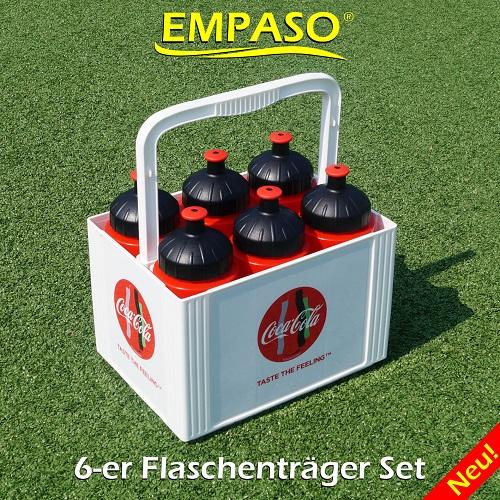 EMPASO 6er-Träger Fussball Trinkflaschen Set