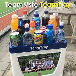 Fussball Trinkflaschen TeamKiste 12 Flaschenträger set mit TeamT