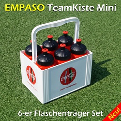 EMPASO TeamKiste MINI - 6er Flaschenträger Set - 6-er Traeger