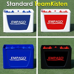 EMPASO TeamKiste fussball Trinkflaschen Flaschenträger Set