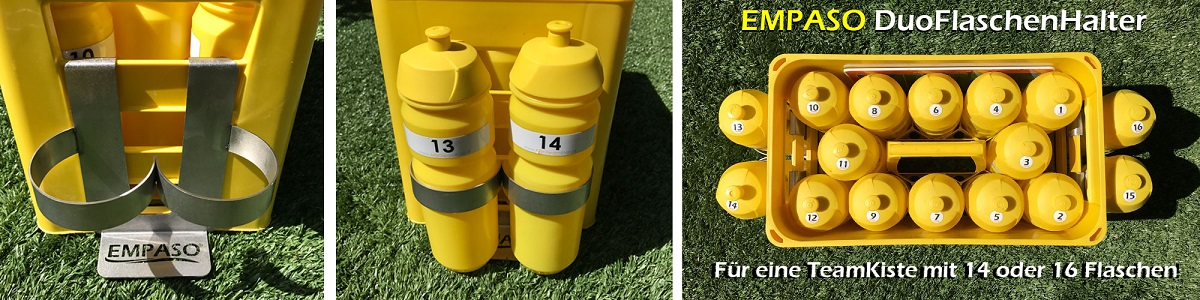 TeamKiste Duo Flaschenhalter fúr Fussball Trinkflaschen