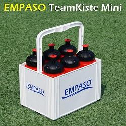 TeamKiste Mini - EMPASO 6er Traeger - 6er Träger - 6 Fussball Trinkflaschen 500ml
