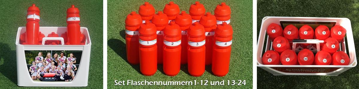 TeamKiste Flaschenträger Set - Flaschennummern