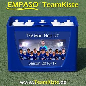 EMPASO TeamKiste - Fussball Trinkflaschen Set - Flaschenträger Set Flaschenhalter Fussball