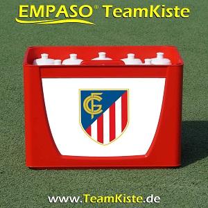 Fussball Trinkflaschen Set - Fussball Flaschenträger Set Flaschenhalter Fussball - TeamKiste
