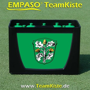 TeamKiste - Fussball Trinkflaschen Set - Flaschenträger Set Flaschenhalter Fussball