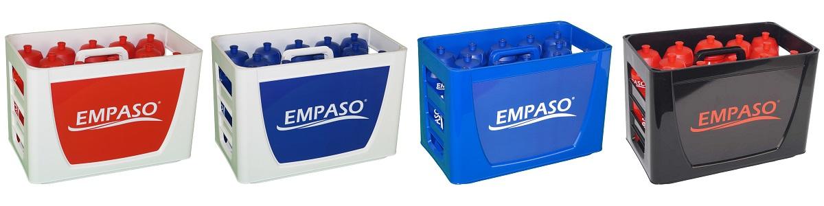 EMPASO TeamKiste Trinkflasche Fussball Trinkflaschen Set Flaschentraeger fussball
