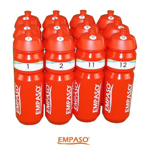 EMPASO TeamKiste Trinkflasche Fussball Trinkflaschen Set Flaschen