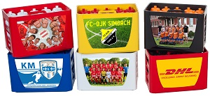 TeamKiste Fussball Trinkflaschen Set - Fußball trinkflaschen set