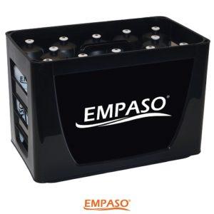 EMPASO TeamKiste Trinkflasche Fussball Trinkflaschen12er Set Flaschenträger fussball