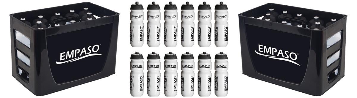 Sonderangebot EMPASO TeamKiste Trinkflasche Fussball 12er Set