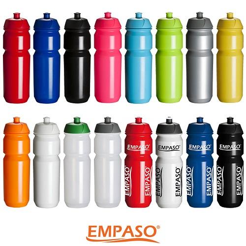 EMPASO TeamKiste Trinkflasche Fussball Trinkflaschen Set 12er Flaschenträger fussball