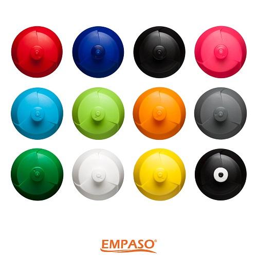 EMPASO TeamKiste Trinkflasche Fussball Trinkflaschen Set 12 verschlüsse