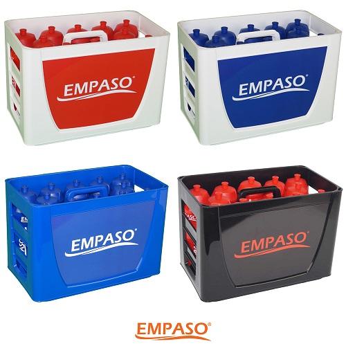 EMPASO TeamKiste Trinkflasche Fussball Trinkflaschen Set 12er  Flaschentraeger fussball