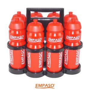 EMPASO 8er Trinkflaschen Set Fussball Trinkflaschen Set