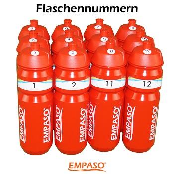 EMPASO Optionen 12 Fußball Trinkflaschen Set