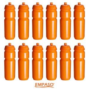 01 EMPASO 12er Set Trinkflaschen Orange