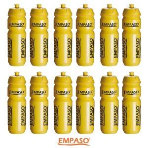 02 EMPASO 12er Set Trinkflaschen Gelb EMPASO