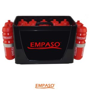 EMPASO TeamKiste 16er Flaschenträger Set Fussball Trinkflaschen Set