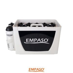14er EMPASO TeamKiste White & Black mit 14 Trinkflaschen 750cc