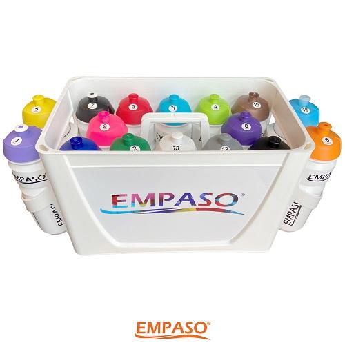 EMPASO TeamKiste Fussball Trinkflaschen Set